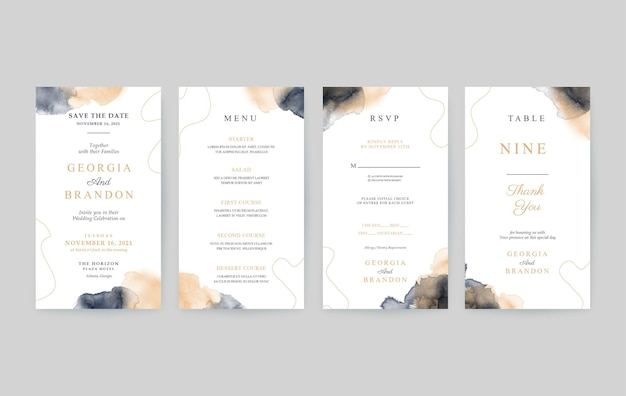 Simple and beautiful vertical wedding invitation template