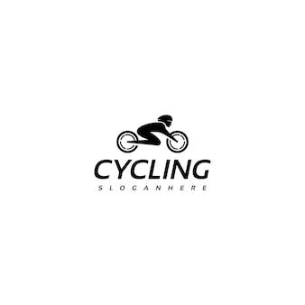 シンプルな自転車、自転車、サイクリングのロゴデザイン