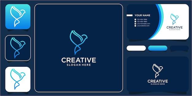 라인이 있는 간단한 새 로고 디자인