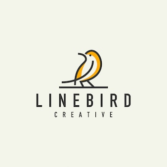 Simple bird logo - illustration