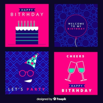 Simple birthday card collection