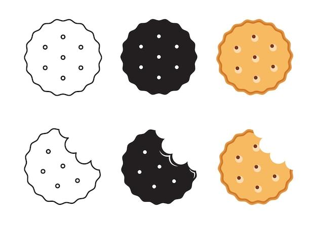 Значок простой бисквит