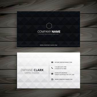 Простой черно-белый алмаз визитная карточка
