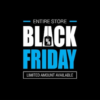 Simple black background, black friday