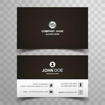 Simple black business card