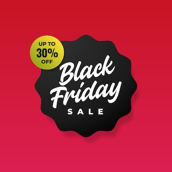 Simple black friday sale banner