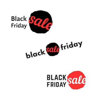 Simple black friday sale logo. concept of title, ink spot or stain, retail, advert, commercial invitations, annual action. flat style trend modern brand graphic retro design on white background