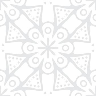 만다라와 간단한 검은 장식 배경