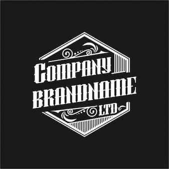 Simple black vintage typography