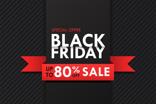 Simple blackfriday typography design with promotional price tags. and long shadows that look beautiful