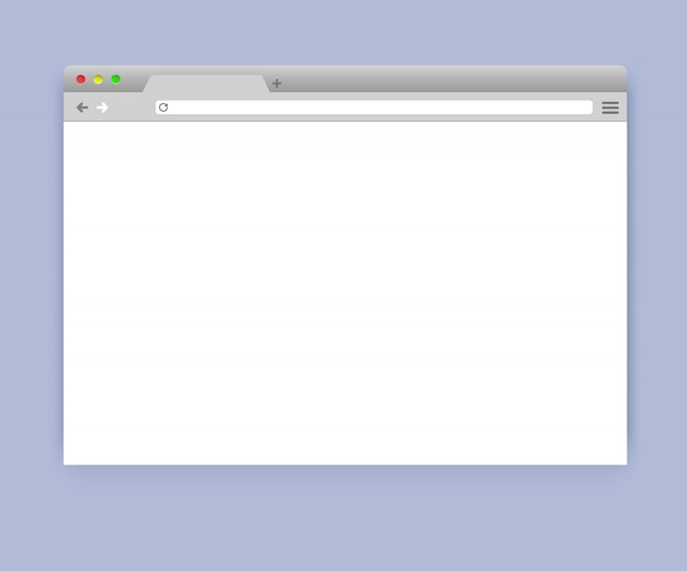 Simple blank browser window mockup