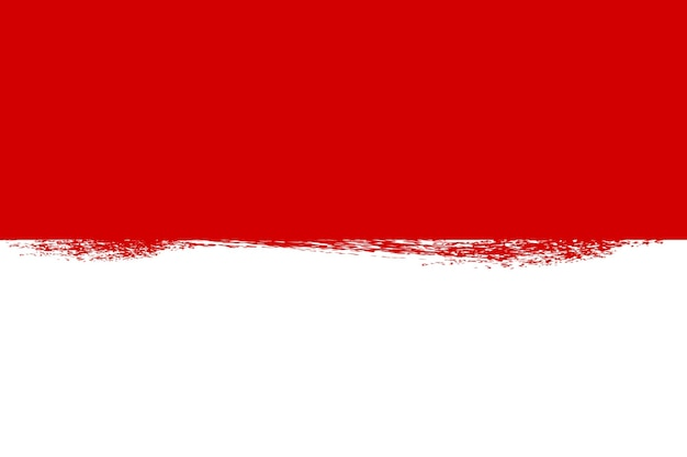 Simple blank vector template background, indonesia independence day in august element design with crayon effect