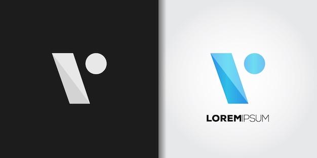 Simple blue initial v logo