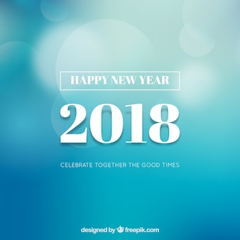 Simple blue new year background