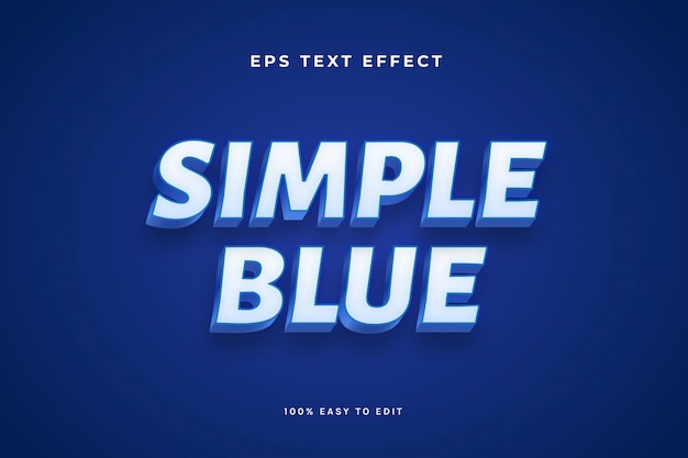 Simple blue white text effect