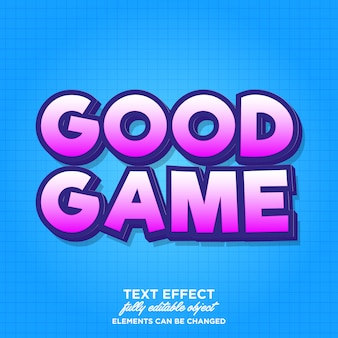 Simple bold game style text effect for banner