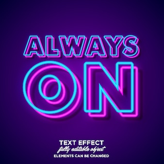 Simple bold neon font effect
