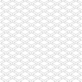 Simple box shaped black and white pattern