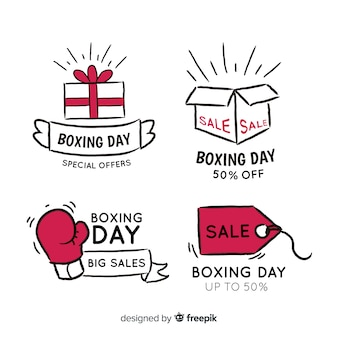 Simple boxing day badges collection