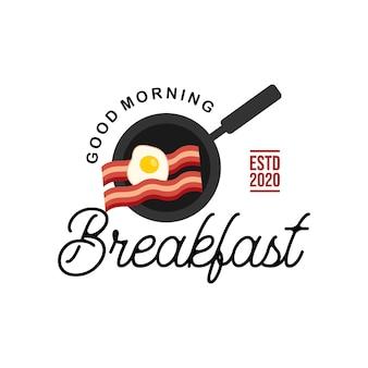 간단한 아침 식사 벡터 일러스트 레이 션 계란 베이컨