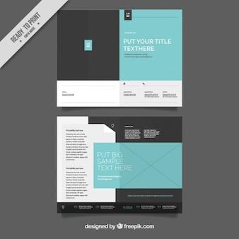 Simple brochure template Free Vector