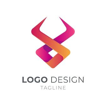 Простой бычий логотип