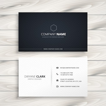 Simple business card black and white