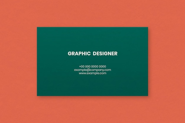 Simple business card design in green tone