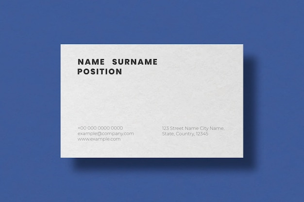 Simple business card design in white tone