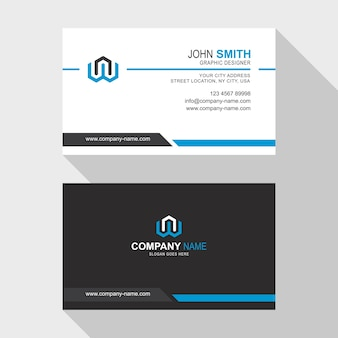 Simple business card template design
