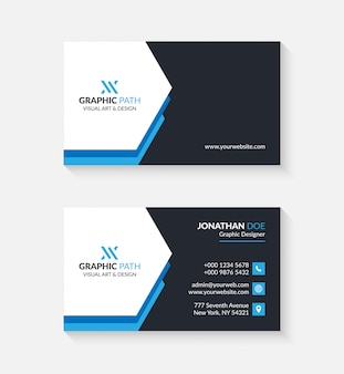 Simple business card with logo or icon for your business