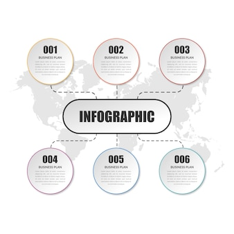 Simple business infographic element   design