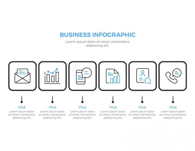 Simple business infographic template