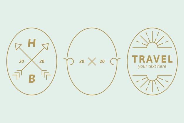 Set logo aziendale semplice