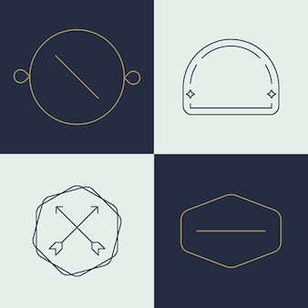Simple business logo set