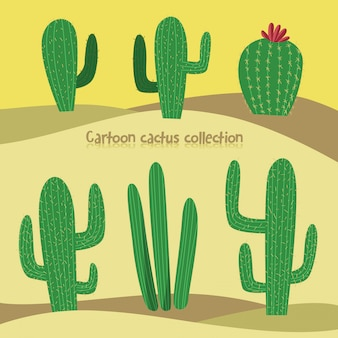 Simple cactus illustration pack
