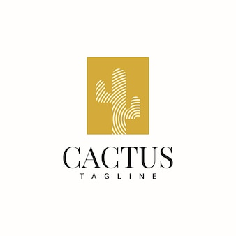 Simple cactus logo template design