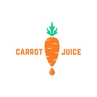 간단한 당근 주스 로고. 맛있는 채식주의자 라벨, 주스 성분, 농업, 건강 식품, 식료품, 생태학, 채식주의자만, gmo는 무료라는 개념입니다. 흰색 배경에 평면 스타일 트렌드 현대적인 그래픽 디자인