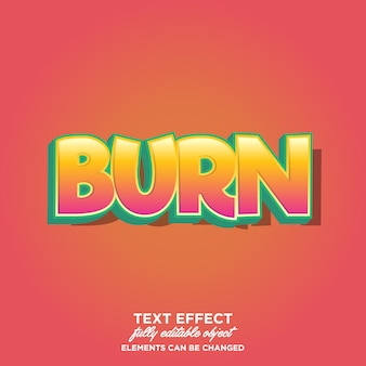 Simple cartoon text effects with cool color gradient