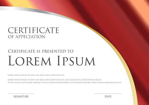 Simple certificate card template
