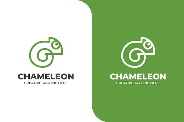 간단한 카멜레온 동물 비즈니스 로고