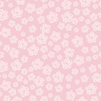 Simple chamomile flowers seamless pattern on pink background.