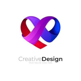 愛のデザインベクトルとシンプルなチャリティーロゴ