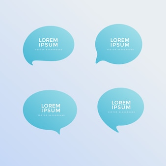 Simple chat icon with beautiful gradient background