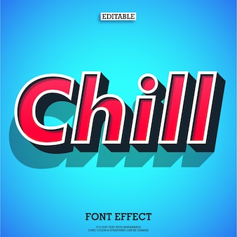 Simple chill retro modern text effect