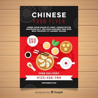 Simple chinese food flyer