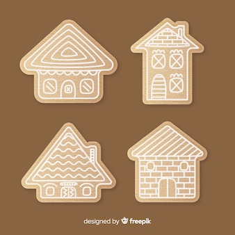 Simple christmas gingerbread house pack