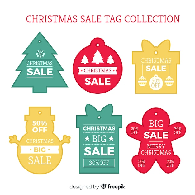 Simple christmas sale label collection