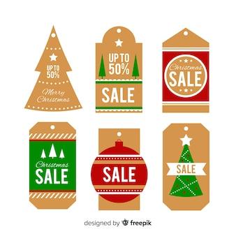 Simple christmas sales label pack