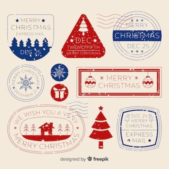 Simple christmas stamp collection